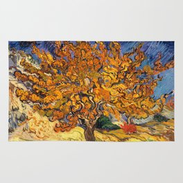 The Mulberry Tree by Vincent van Gogh Rug