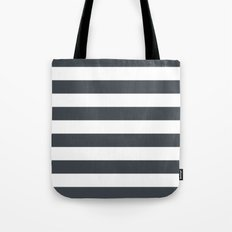 Charcoal Stripes Tote Bag