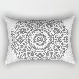 Bohemian Glittering Floral Mandala Rectangular Pillow