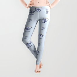 Menorah 23 blue Leggings