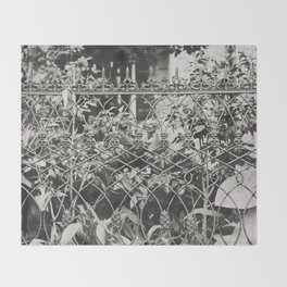 New Orleans Garden District Fence Throw Blanket