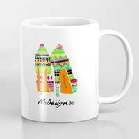 heels Mugs featuring Aztec - Heels by RsDesigns