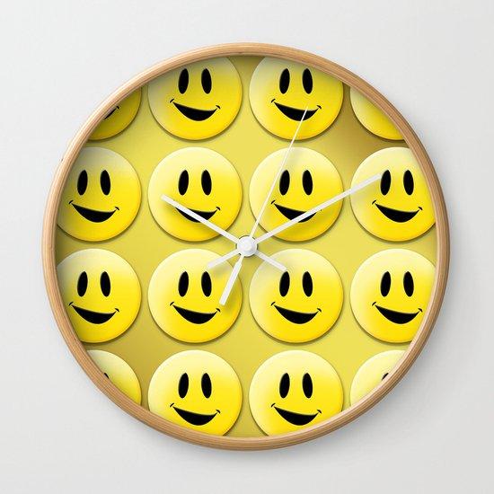 Smiley Smileys! Wall Clock