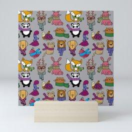 Winter scarfs - Bufandas Mini Art Print