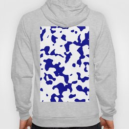 Large Spots - White and Dark Blue Hoody