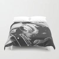 old school Duvet Covers featuring Old school  by Olivier P.