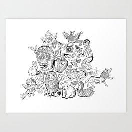 Mexican Illustration Print Art Print