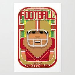 American Football Red and Gold - Enzone Puntfumbler - Seba version Art Print