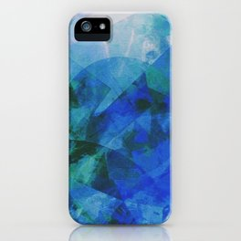 Precipice in Blue XXI iPhone Case