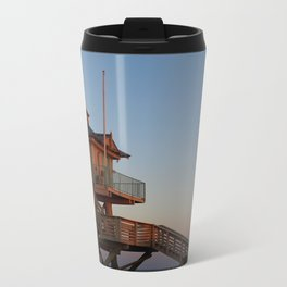 Guard Tower At Dusk Metal Travel Mug
