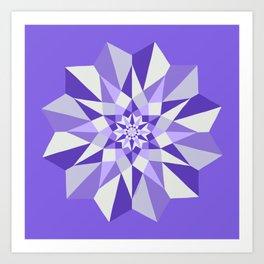 Diamond Purple Mandala Art Print