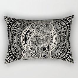 Polynesian Pug Rectangular Pillow
