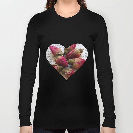 Red Roses on Old paper Long Sleeve T-shirt