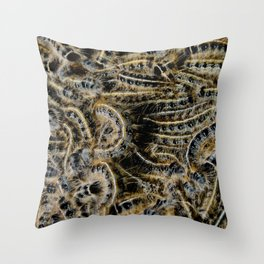 Tree Killing Caterpillars Throw Pillow