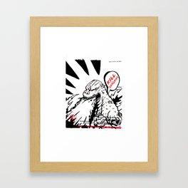 bootleg gojira Framed Art Print