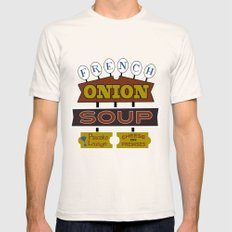 French Onion Soup  SMALL Natural Mens Fitted Tee