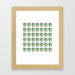 Les concombres.  Framed Art Print