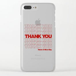 thankyou Clear iPhone Case