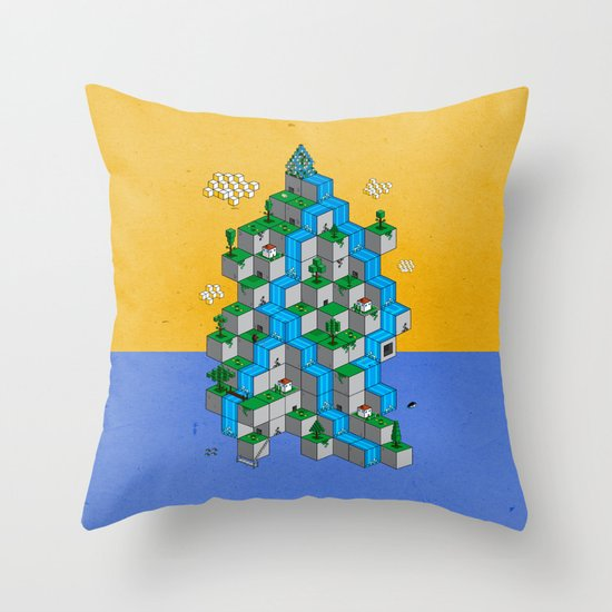 Ecubesystem Throw Pillow