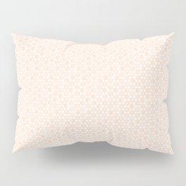 Modern Minimal Hexagon Pattern in Peach/Apricot and White Pillow Sham
