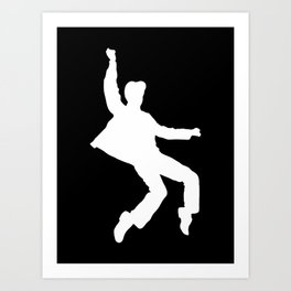 White Elvis Art Print