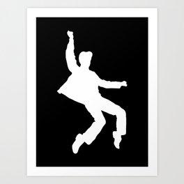 White Elvis Art Print