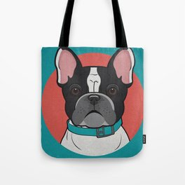 Icons of the Dog Park: French Bulldog Design in Bold Colors for Pet Lovers Tote Bag