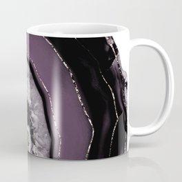 Purple Plum Black Agate with Rose Gold Glitter #1 #gem #decor #art #society6 Coffee Mug
