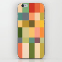 Vintage Checkered Pattern iPhone Skin