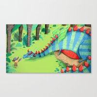 dragon Canvas Prints featuring Dragon by ilana exelby