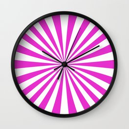 Fuschia Rays Wall Clock