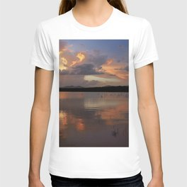 Sunset at the lake after the storm. T-shirt