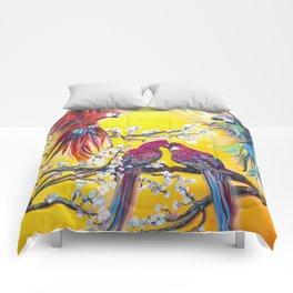 Australian spring. Parrots Comforters