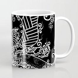 Zen Tree Rebirth Black Right Half Coffee Mug