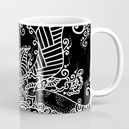 Zen Tree Rebirth Black Right Half Coffee Mug