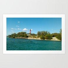 shoreline light Art Print