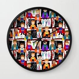 Little Super Heroes  Wall Clock