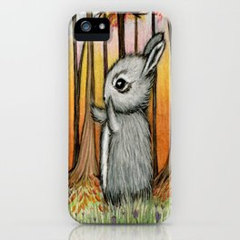 Forest Bunny iPhone Case