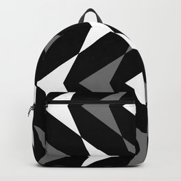 Black White and Gray Modern Chevron Print Backpack