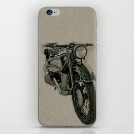 BM army green bike vintage look iPhone Skin