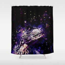 tyrannosaurus rex wsls Shower Curtain