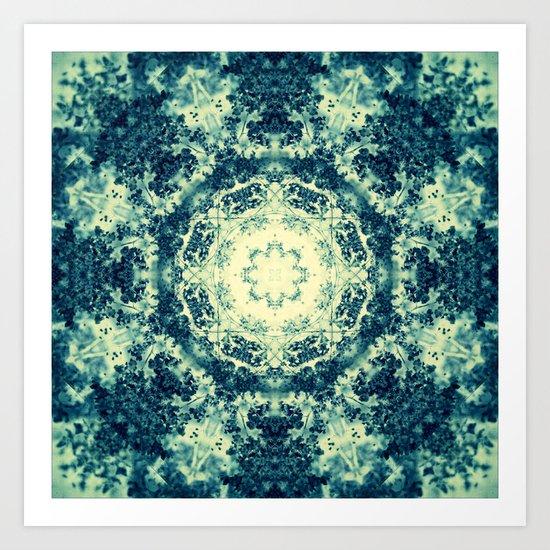 Bleu Neige Art Print
