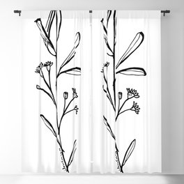 Gum Tree Branch with Blossom by Jess Cargill Blackout Curtain