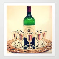 Wine Night Out Art Print