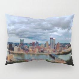 My City of Steel Panorama Pillow Sham