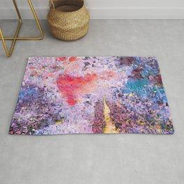 Lavender Hearts Rug