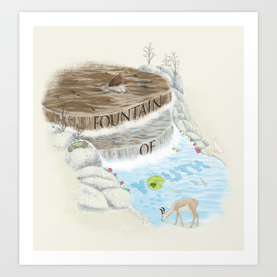 Fountain of Youth Art Print