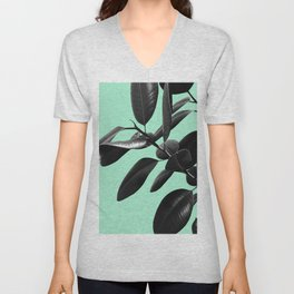 Ficus Elastica Beach Vibes #2 #foliage #decor #art #society6 Unisex V-Neck