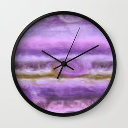 Purple Jupiter Wall Clock