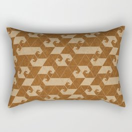 Fractal Wave C Rectangular Pillow